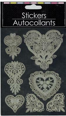 Lace-look Laser Cut (Self-stick) Hearts
