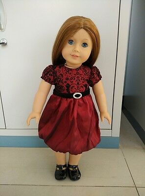 American Girl Our Generation Journey Girls 18 inch Doll Clothes Wine Red Dress