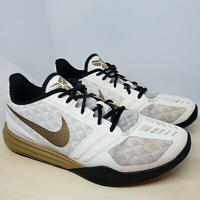 save off 0e8cc f78af Nike size 9 Kobe Bryant Mentality White Gold Sneakers 704942-102 Shoes Nice!