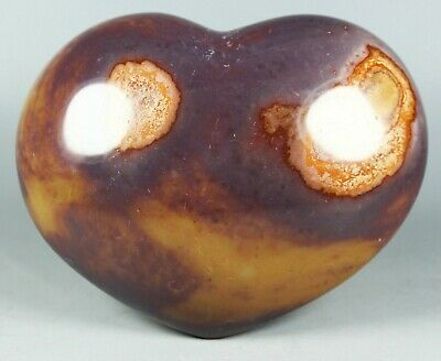 NATURAL POLISHED POLYCHROME JASPER HEART From Madagascar 542g