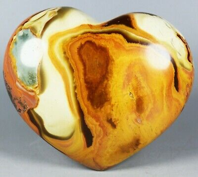 NATURAL POLISHED POLYCHROME JASPER HEART From Madagascar 366g