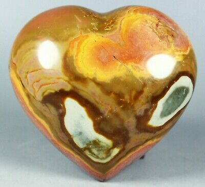 NATURAL POLISHED POLYCHROME JASPER HEART From Madagascar 258g
