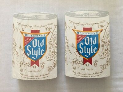 2 Vintage unopened Heileman's Old Style Beer Lager playing cards - 1978