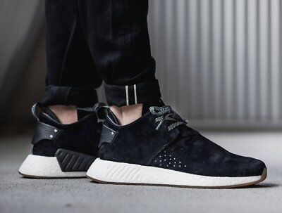 2d48610c4 Adidas NMD C2 Suede Size 10.5 BY3011 Core Black Gum Shoes Sneakers NEW  NMD R1