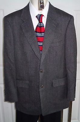 Brooks Brothers shades of gray wool sport coat blazer jacket 43R