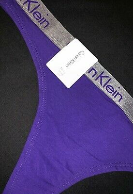 Calvin Klein Women's Purple Thong String Modern Underwear Comfort Ladies Stretch