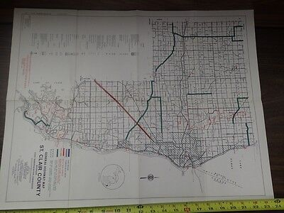 Vintage MDOT Michigan Department of Transportation ST. CLAIR COUNTY Bicycle Map