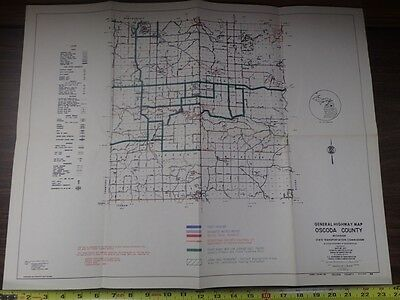 Vintage MDOT Michigan Department of Transportation OSCODA COUNTY Bicycle Map