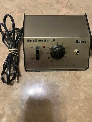 Sabre Detail Master Iv Electronic Controlled Burning System Model 8595 No Pen