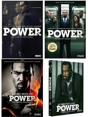 Power: The Complete Seasons 1-4 (DVD, 2017, 11-Disc Box Set) Series DVD 1 2 3 4