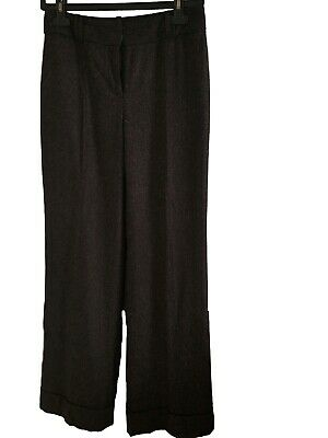 Ann Taylor LOFT Julie Women's Wide Legs Wool Blend Cuffed Work Dress Pant Size 2