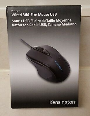6a0299c2052 KENSINGTON 72355 PRO Fit Wired Mid-Size Mouse, USB, Black - $35.04 ...