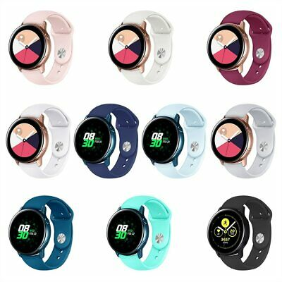For Samsung Galaxy Watch Active Soft Silicone Sport Replacement Wrist Band Strap