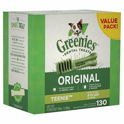 GREENIES Original TEENIE Dental Dog Treats, 36 oz. Pack 130 Treats FREE SHIPPING