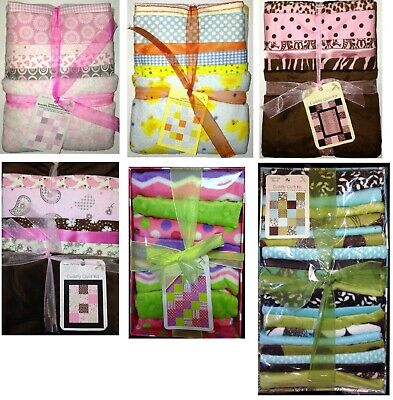 "Cuddly Quilt Kit BABY QUILT 30"" x 36"" includes all fabrics PICK FROM 3 KITS"