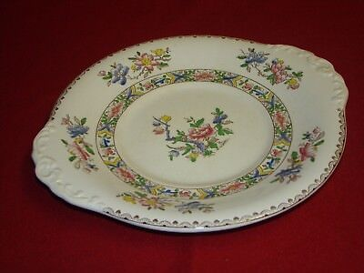 Booths Silicon China BROCADE Sandwich Cake Serving Plate, Server Dish