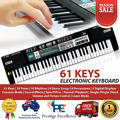 Electronic Musical Keyboard Piano 61 Keys Organ Adult Child Learning Record Play