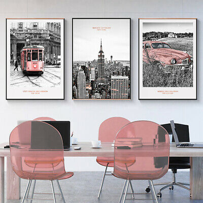 New York Empire State Building Canvas Prints Poster Painting for Living Room