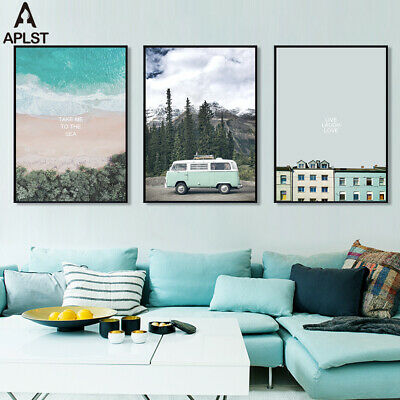 Sea Beach Traveling Canvas Print Live Love Quote Poster Wall Painting Pictures