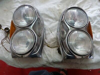 Mercedes Benz.w108/109/111...Headlights 2 Phares Us Complets.verres Blanc Bosch
