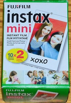 Fujifilm Fuji Instax Mini Instant Color Film 2x10 Prints 2 Pack Exp 11/2019