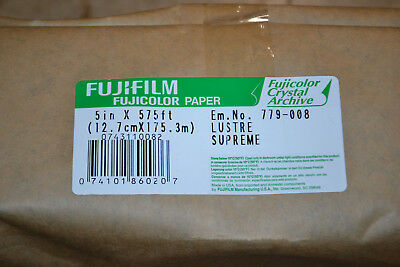 """Fujifilm Paper RA4 5"""" Crystal Archive Supreme Luster 1 Roll 575ft Wetlab"""