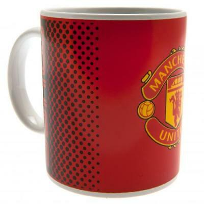 Manchester United Official Crested 11oz Ceramic Fade Mug Gift Birthday Present