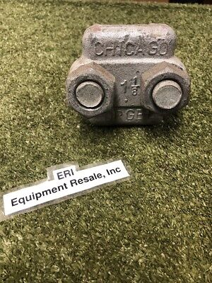 """Chicago Forged 1 1/8"""" Wire/Rope/Cable U-Bolt Clamp, US MADE.  Loc 100C"""