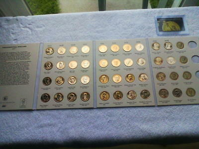 Presidential Dollars Complete Collection U.s.coins 2007-2016; 44 Coins In Album