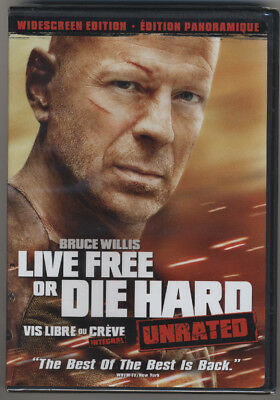 Live Free Or Die Hard * Bruce Willis * Unrated * Widescreen * Dvd * New & Sealed