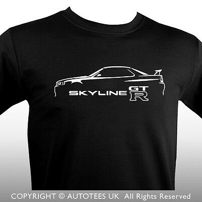 Premium Autoees T-Shirt For Japanese Gtr R34 Car Enthusiasts