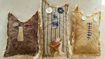 Primitive CAT Bowl Filler/ornies/accents 3pc set