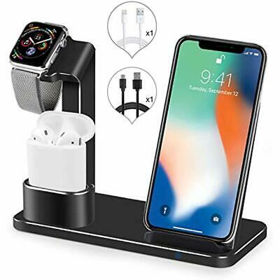 Charging Stations Watch Stand Wireless Charger,3 1 Aluminum Fast Dock For IPhone