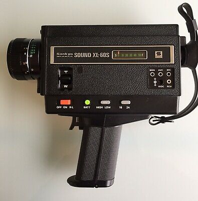 Super 8 mm camera and Sankyo. sound XL-60s