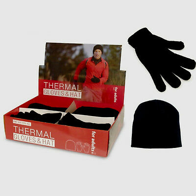 Men Thermal Hat And Gloves Warm Winter Perfect Gift Boys Winter Remedy