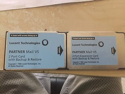 Lot of 2 Lucent Partner Mail VS 2 Port Cards with backup restore 50A  108344268