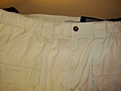 88bea3109f0 mens Croft & Barrow Cargo Shorts, size 46 + 48 Big and Tall side elastic