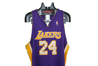 086049dd3f90 Kobe Bryant VTG Mens Authentic Lakers Kobe Bryant Reebok Stitched Jersey  Size 48