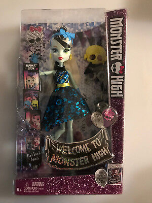 """Monster High WELCOME TO MONSTER HIGH FRANKIE STEIN 11"""" Doll by Mattel - NIB"""