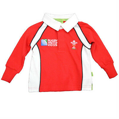 Wales WRU RWC Kids Boys/Girls/Baby Welsh Rugby World Cup Long Sleeve Shirt