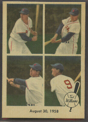 1959 Fleer Ted Williams #65 August 30th,1958  Boston Red Sox HOF