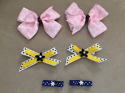 Lot~of~6~Girls~Hair~Bows~Barretts~Clips~Perfect~for~Pigtails~Any~Occasion~NWOT
