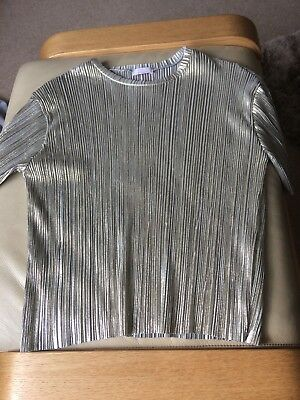 Girls Stunning Kylie Gold Crinkle Top BNWOT Age 13 Years