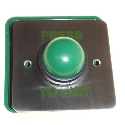 PRESS TO EXIT door button switch push release with back box used in banks etc