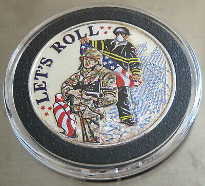 Military Soldier 1St Responders 9 11 2001 Let's Roll .999 Fine Silver 1 Troy Oz