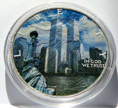 Liberty Eagle Twin Towers White House 9 11 2001 Pentagon .999 Silver 1 Troy Oz