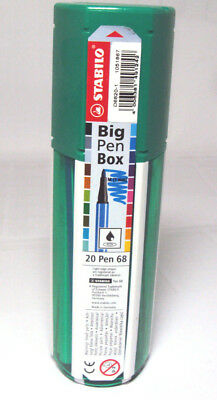 Stabilo Pen, Big Box, 20 Fasermaler , div. Farben, Stifte in Kunststoffbox