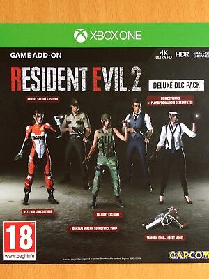 Resident Evil 2 Deluxe DLC Pack Xbox One X Costumes, Soundtrack Swap, Filter+...