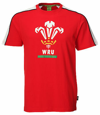 Genuine WRU Wales Official Kids (Boys/Girls/Baby) Welsh Rugby Contrast T Shirt
