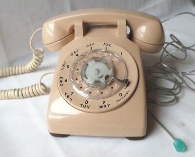 Bell Western Electric Corded Rotary Dial Telephone Model 500DM - Beige